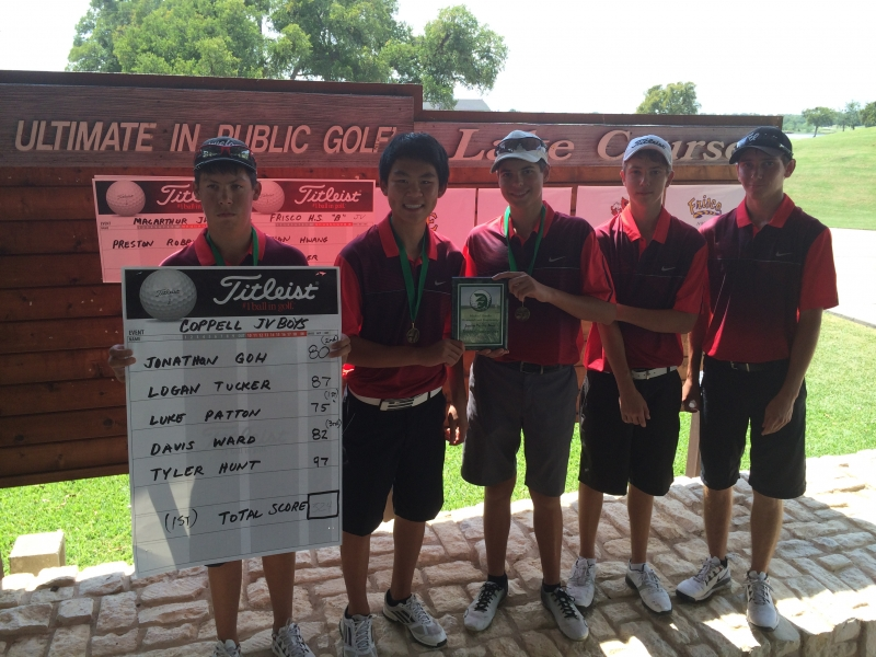 Coppell Boys JV_1st Place_Michael F. Banks Memorial Golf Tournament_Sept 2014.jpeg