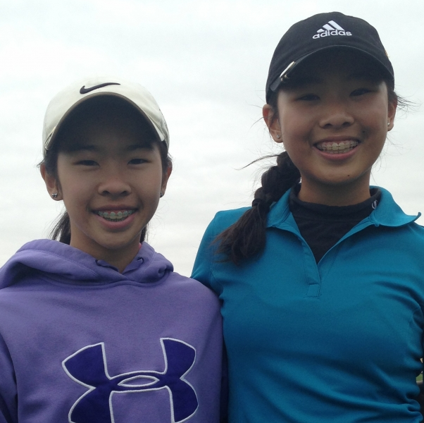 Michelle Zhou_2nd Place_Emily Zhou_4th Place_NTPGA Gentle Creek Spring Break_2014.jpg