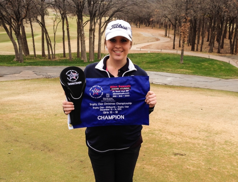 Emily Tasker_1st Place_personal best 36 hole total_82_83_her 2nd TJGT_Dec_2014_Trophy Club_Solo Pic.jpg