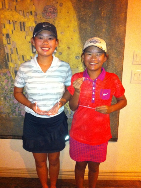 Tai & Quinn Barber_ Tai_1st by 8 strokes_ & qualifies for the College Players Tour Championship_Quinn 2nd_ 3birdies in a row personal best_NTPGA_July 2013.jpg